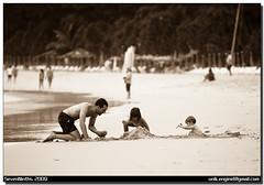DSC_9700 (unik.engine) Tags: trip travel family sea summer beach sepia children thailand nikon father kata phuket   2009         unik      d80  sevenninths