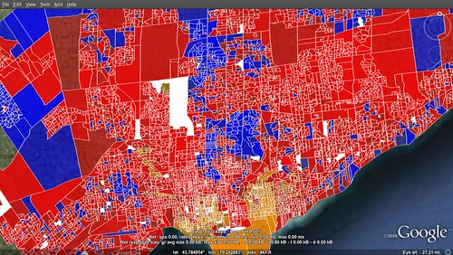 Toronto - 2008 election results per poll