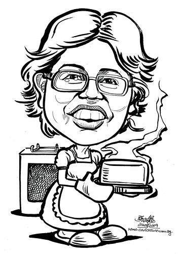 Caricature for IHG - baking