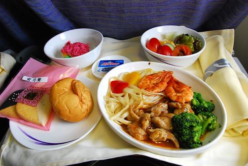 飛機的蜜月餐