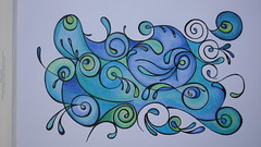doodle in colour (kellynowellies) Tags: pen pencil ink drawing doodle doodles doodling zentangles