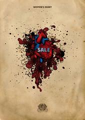 Sale (redrichman) Tags: street new red portrait people art love zoo blood heart humor anatomy