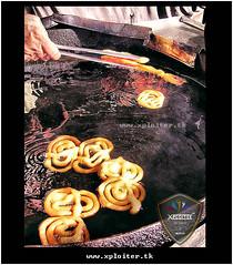 Jalebi Step 2 (Xploi ) Tags: world travel pakistan light summer vacation copyright orange eye art love yellow festival photoshop geotagged photography idea nikon asia heart  captured passion sweets karachi ramadan hdr cs4 atif jalebi xploiter nikoncorperation