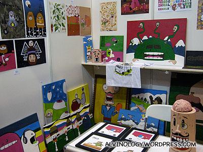 Colourful artworks