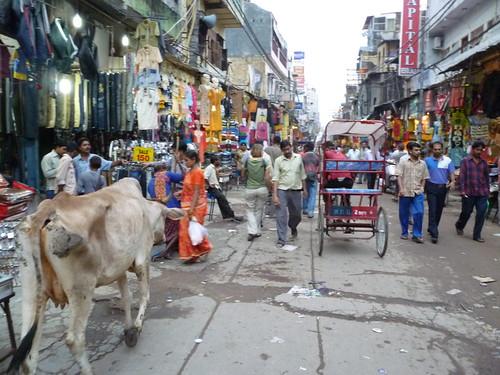 Backpacker ghetto in New Delhi
