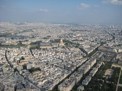 Paris City from the Eiffel Tower