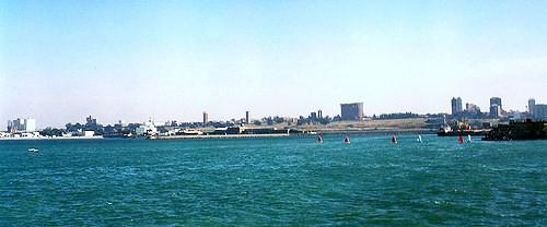 Puerto de Mar del Plata, provincia de Buenos Aires, Argentina # Original= (2382 x 991)