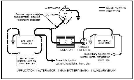 dual battery isolator wiring diagram motorhome battery wiring travel trailer battery wiring diagram at Motorhome Battery Wiring Diagram Two
