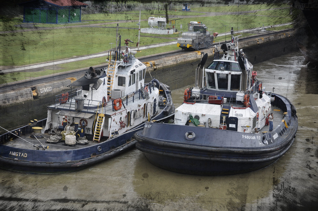 Tugs at the Panama Canal