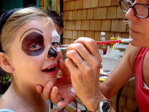 face painting on the 4th of july