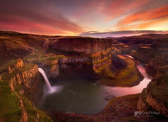 Palouse Falls Sunset (Chip Phillips) Tags: sunset landscape photography waterfall washington state northwest awesome phillips falls chip inland palouse mywinners anawesomeshot lsilf