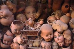 Shattered Dreams (Angel S. M.) Tags: italy rome roma europa europe italia dolls heads shopwindow disturbing cabezas muñecos escaparate brokentoys juguetesrotos
