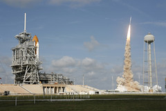 Ares I-X Rocket and Space Shuttle (NASA, 10/28/09) (NASA's Marshall Space Flight Center) Tags: na constellation rocketlaunch aresrocket aresix