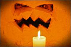 halloween pumpkin peepers (Dan Anderson (dead camera, RIP)) Tags: light orange eye halloween minnesota pumpkin jack candle jackolantern stpaul minneapolis carving inside twincities saintpaul peeking mn insidepumpkin