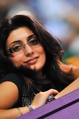 Lana Al Aadi (Ashraf Khunduqji) Tags: portrait girl beautiful tv model nikon gorgeous 300mm charming d3 doha qatar alkass ashrafkhunduqji lanaalaadi