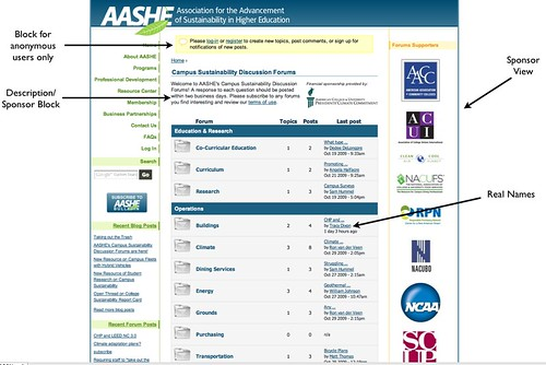 AASHE Forum Homepage