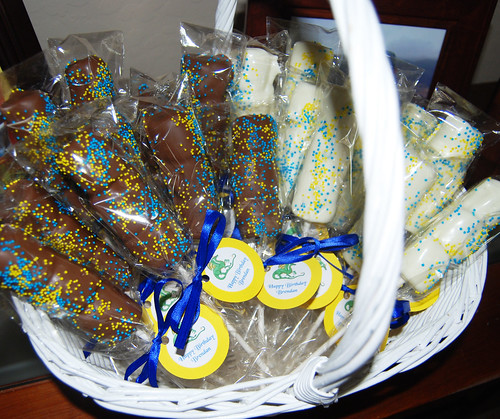marshmallow pops birthday party favors
