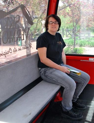 Jamie in the Ski Gondola