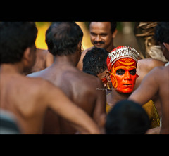 """I was never part of the crowd"" (Ajith ()) Tags: red india face festival kerala ritual redface godsowncountry theyyam colouredface mygearandme ringexcellence dblringexcellence"