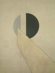 Moholy-Nagy, Composition A.XX with detail of upper center