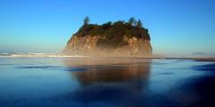 Mysterious Island (Worthing Wanderer) Tags: washington olympic nationalpark summer august hot sunny usa twilight novel beach coast sea ocean