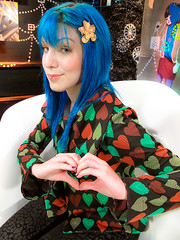 look do dia 16/maio/09 (marimoon) Tags: blue colors fashion hair tv heart moda mtv scrap marimoon