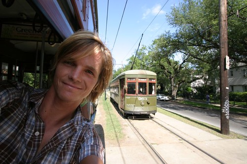 Inside the New Orleans street car...