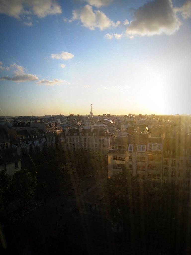 Vue du haut du Centre Pompidou