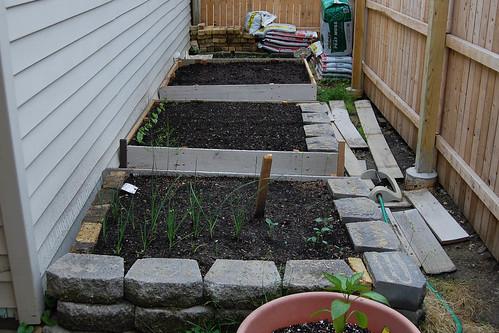 3 garden beds