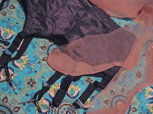 stockings nylons garterbelt thighhighs