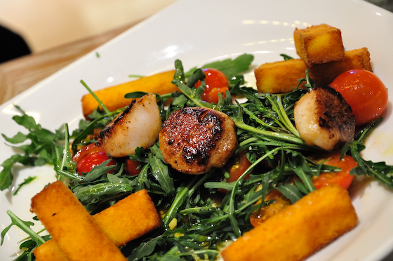Scallops and rocket