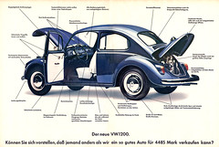 VW Kfer 1200 (1967) (jens.lilienthal) Tags: auto old classic cars car vw vintage bug volkswagen print advertising media reclame ad beetle voiture historic advertisement advert 1967 older 1200 oldtimer autos werbung reklame voitures kfer anzeige youngtimer