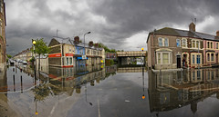 Splott Flood, Cardiff (wentloog) Tags: uk panorama storm rain wales canon eos interestingness flood britain cymru cardiff explore caerdydd 5d wfc splott 24105 ptgui canoneos5d tremorfa ef24105f4l wentloog pantools welshflickrcymru stevegarrington