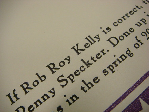 If Rob Roy Kelly is correct…
