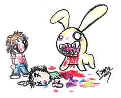 (Dragons Breath) Tags: bunny me blood mask ghost boring wtf crayolas