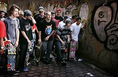 collin provost at the left (FPAz) Tags: new york city nyc red ny brooklyn skateboarding bull skate pro skater collin nueva 2009 redbull banks sk8 provost patineta