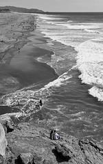 You and Me (Alex T_SF) Tags: sanfrancisco bw beach sweet bound cliffhouse nikond3 nikon2470mmf28