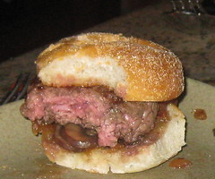 Picco in Larkspur, CA - grass fed mini burgers, caramelized onion, mushroom, pt. reyes blue cheese sauce