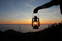 Lights Out (jrtce1) Tags: sunset silhouette highwayone pacific bigsur pacificocean lantern bixbybridge higway1 jrtce1