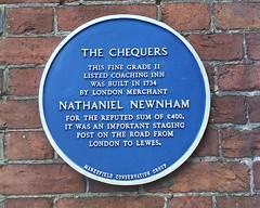 Photo of Nathaniel Newnham blue plaque