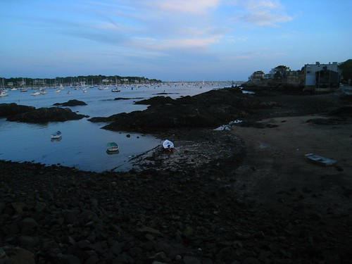 marblehead harbor sunset late june