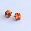 Orange And Red Paper Studs