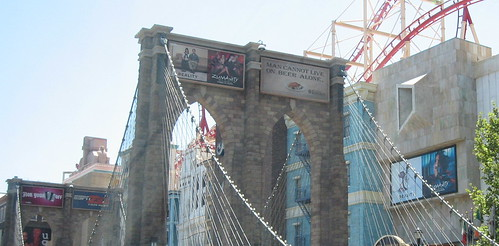 The Brooklyn Bridge, now with Zumanity billboard!