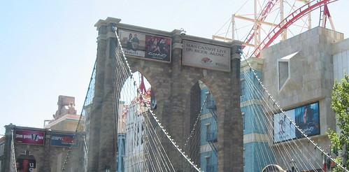 The Brooklyn Bridge, now with Zumanity billboard!