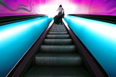 Eskalata in Glasgow (Semi-detached) Tags: street city blue mall lens scotland nikon long exposure colours purple angle geometry glasgow argyll escalator central wide steps perspective scottish sigma buchanan escalators princes argyle 1020mm 1020 merchant aplusphoto