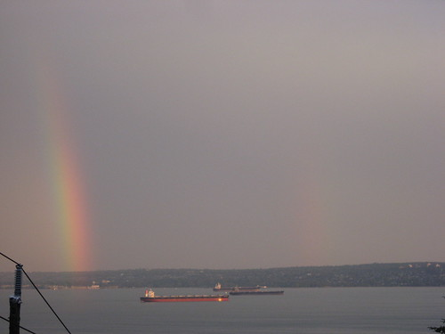Rainbow Over English Bay by you.