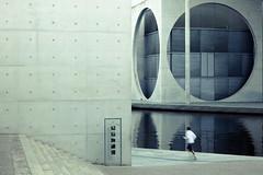 Jogger (96dpi) Tags: man berlin water sport architecture training concrete wasser stair mel treppe architektur mann parlament fluss spree regierung jogger beton paullöbehaus regierungsviertel frühsport ausdauer marieelisabethlüders