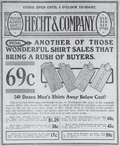 Hecht Shirt Sale