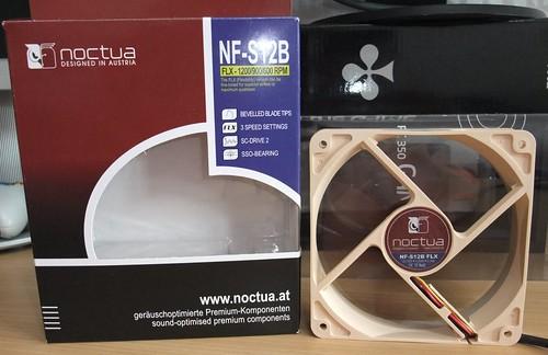 Noctua NF S12B FLX 120mm fan: tylesnis už tylą