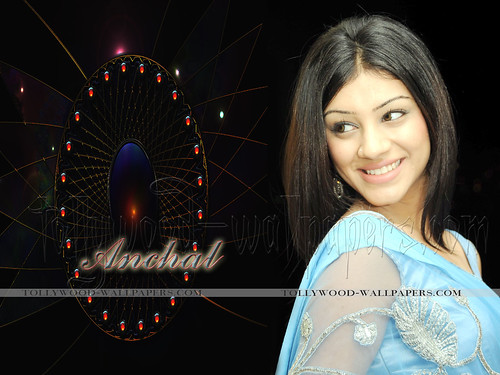 Actress Anchal on wallpaper